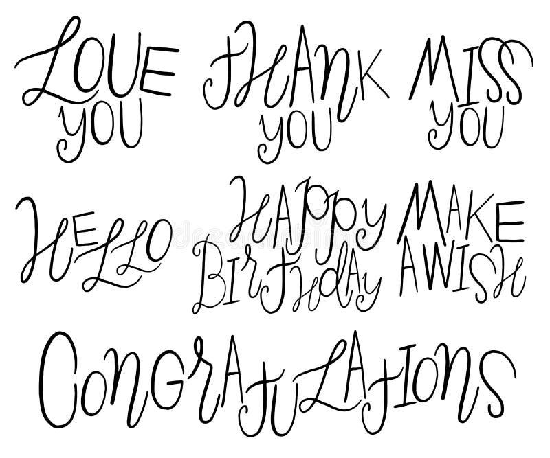 Letras decorativas ilustración del vector