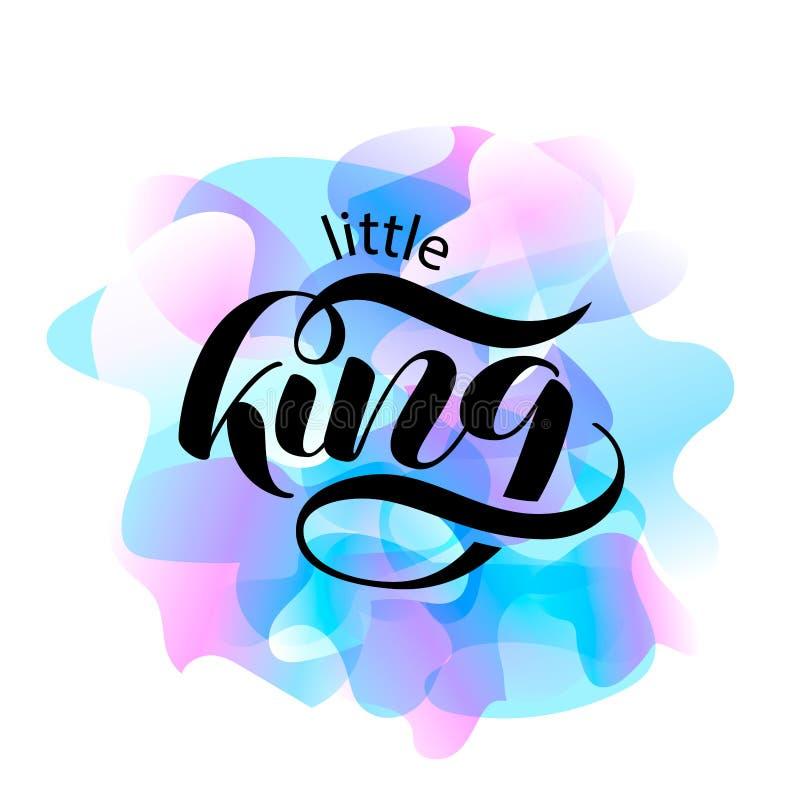 Letras del cepillo de Little King Ejemplo del vector para la bandera libre illustration