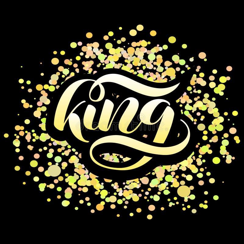 Letras del cepillo del rey Ejemplo del vector para la bandera ilustración del vector