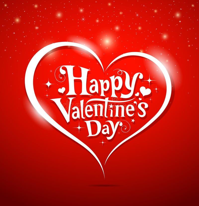 Letras del día felices de la tarjeta del día de San Valentín libre illustration
