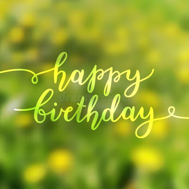 Letras del feliz cumpleaños foto de archivo