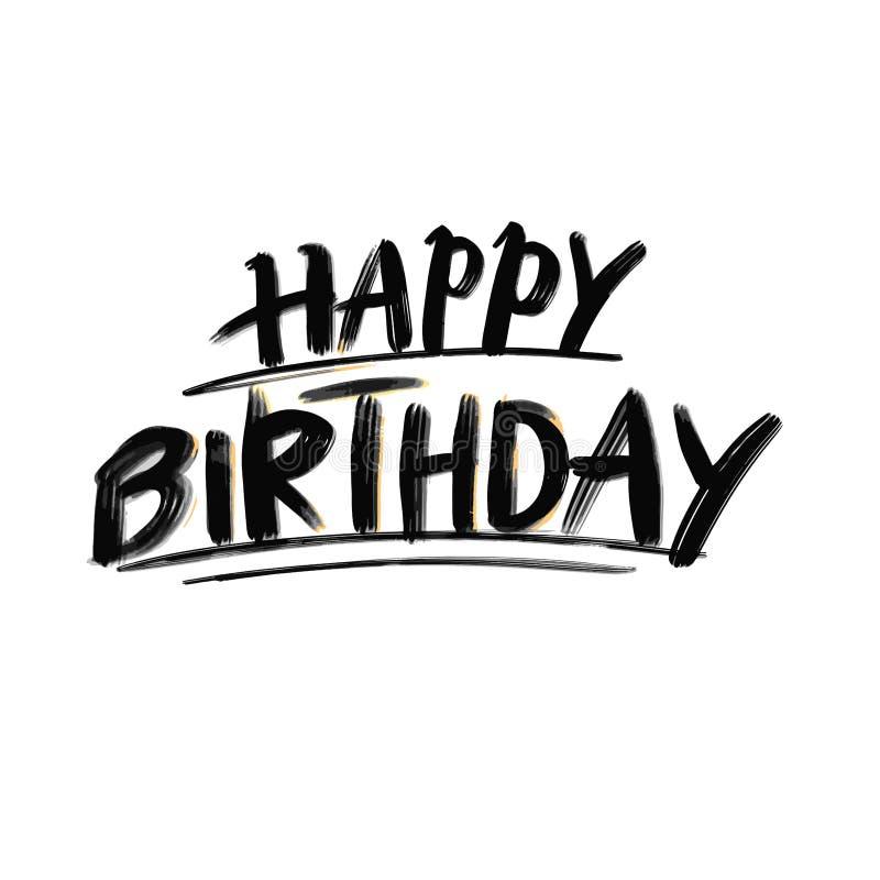 Letras del feliz cumpleaños ilustración del vector