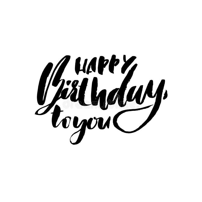 Letras Del Feliz Cumpleaños Para La Tarjeta De La Invitación Y De ...