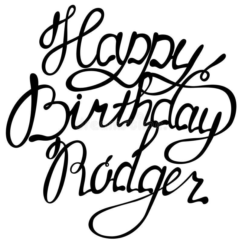 Letras del nombre de Rodger del feliz cumpleaños libre illustration