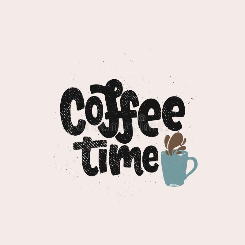 Letras del tiempo del café libre illustration