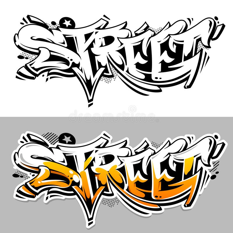 Letras del vector de la pintada de la calle stock de ilustración