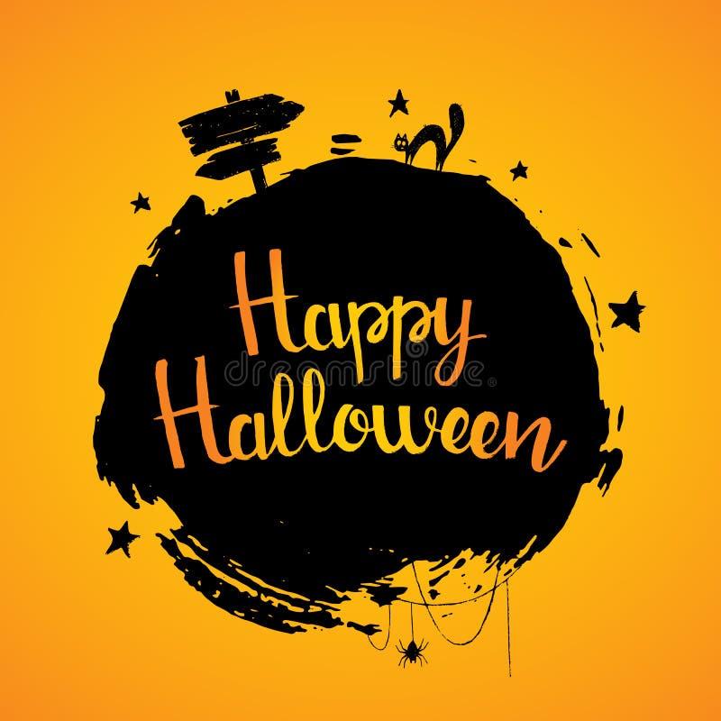 Letras dibujadas mano del feliz Halloween libre illustration