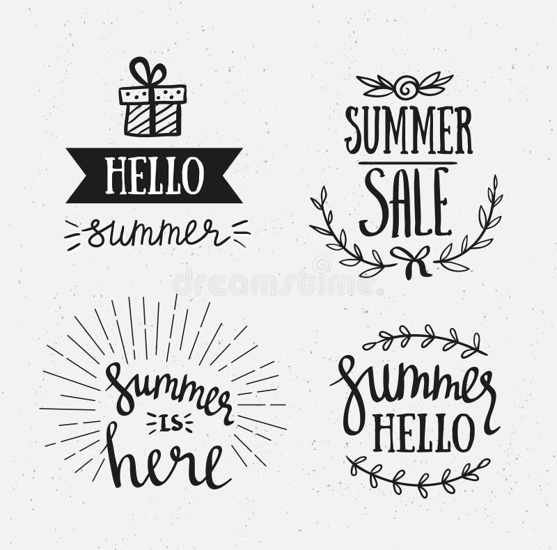 Letras Dibujadas Mano Del Verano Vacaciones De Verano Que