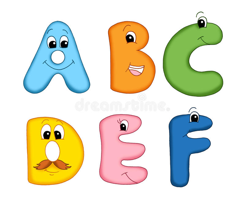 Letras do alfabeto - 1 ilustração do vetor