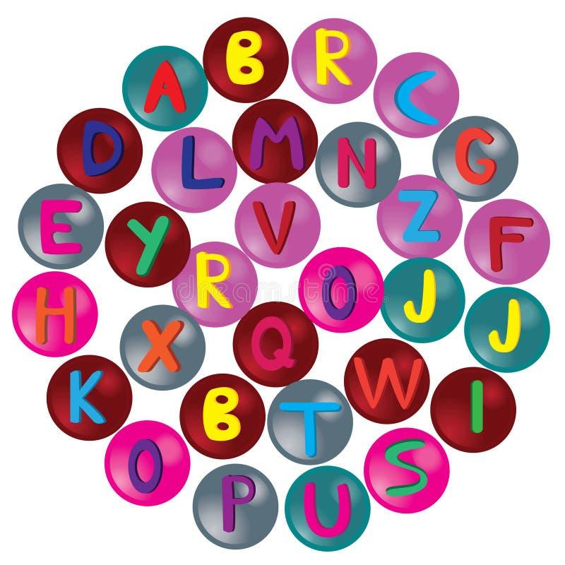 Letras do alfabeto ilustração do vetor