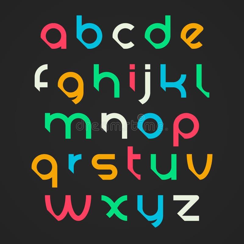 Letras do alfabeto ilustração stock