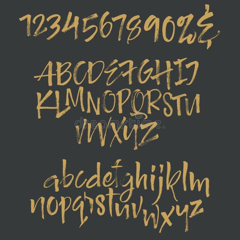 Letras do alfabeto: lowercase, caixa, números Alfabeto do vetor ilustração royalty free
