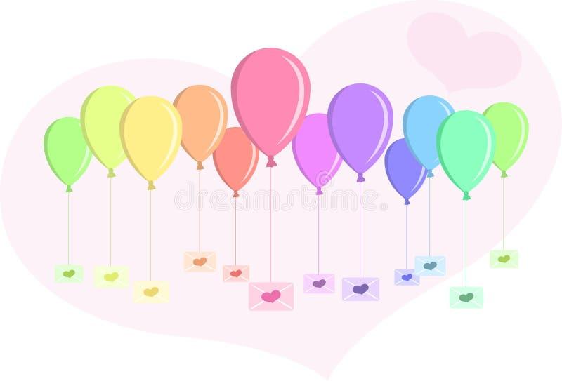 Letras do balão ilustração do vetor