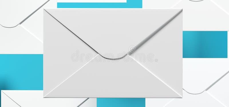 Letras do correio com foco macio ilustração do vetor