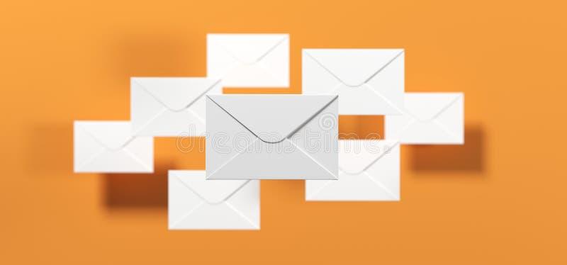 Letras do correio com foco macio ilustração stock