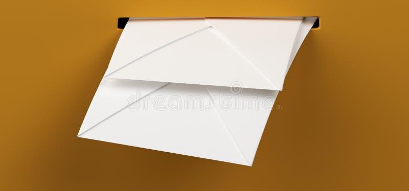 Letras do correio na caixa postal ilustração royalty free