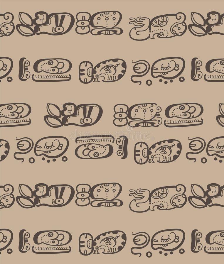 Letras do Maya dos povos ilustração stock