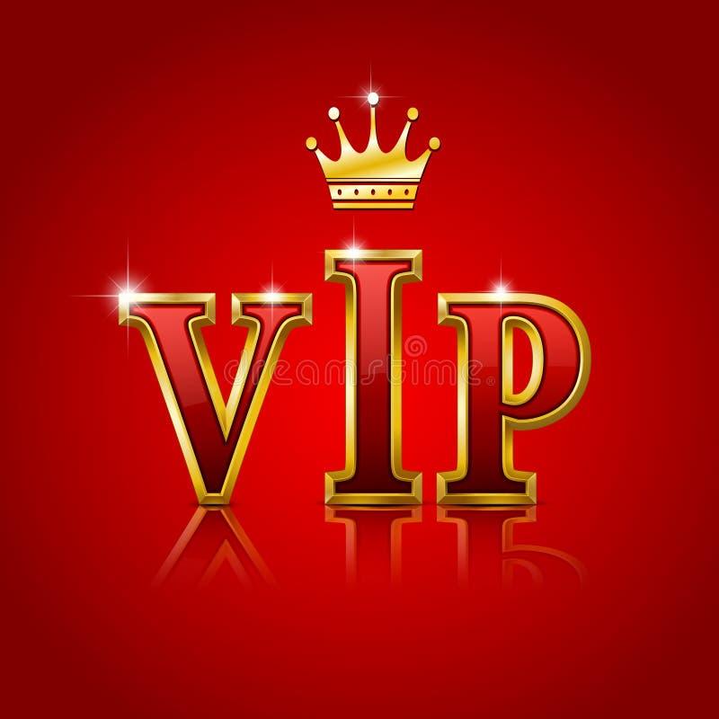 Letras do ouro do VIP. imagens de stock royalty free