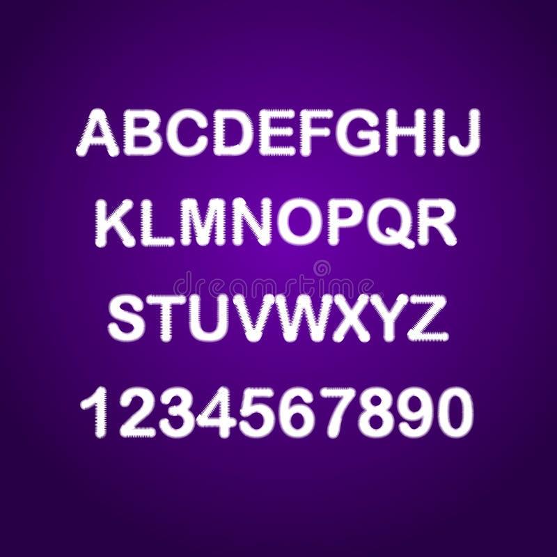Letras do pulso aleatório ajustadas Fonte afligida vetor do Grunge fotos de stock royalty free