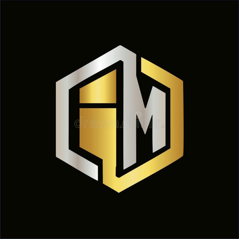 Letras do vetor de logotipos elegantes da cor IM ilustração royalty free