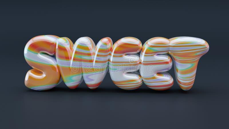 Letras doces do caramelo fotos de stock royalty free