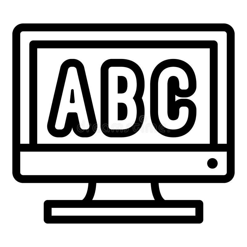 Letras en el icono del monitor, estilo del esquema libre illustration