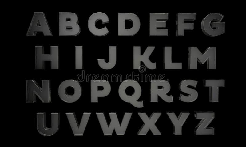 Letras en vidrio imagen de archivo libre de regalías