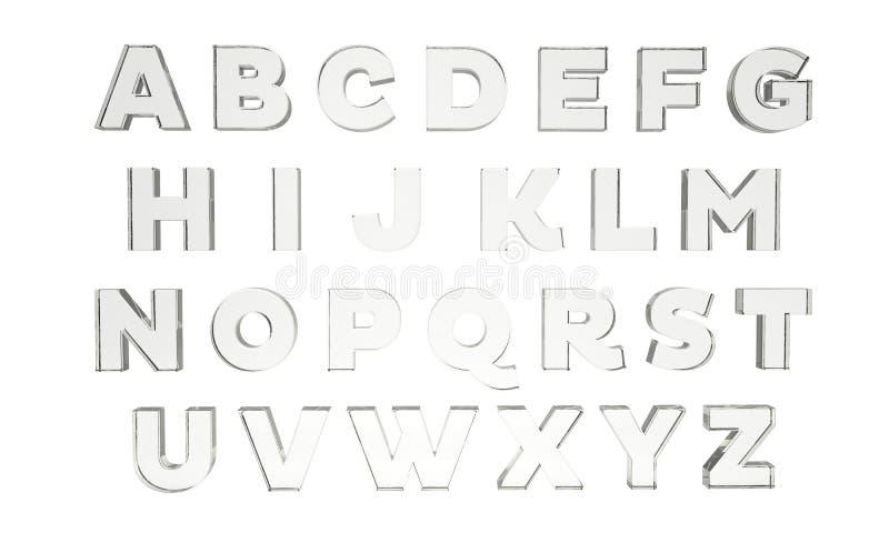 Letras en vidrio fotografía de archivo libre de regalías