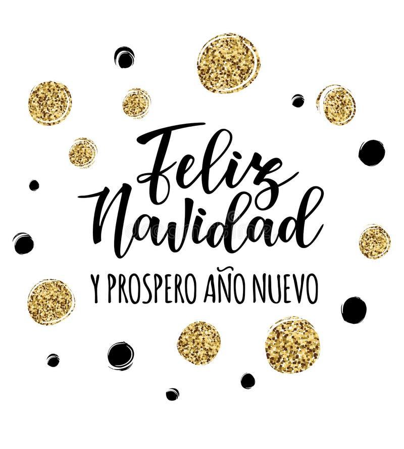 Letras Españolas De La Tipografía Del Del Navidad De Feliz Del Ilustración Del Vector Ilustración De Felicidad Nuevo 106713450