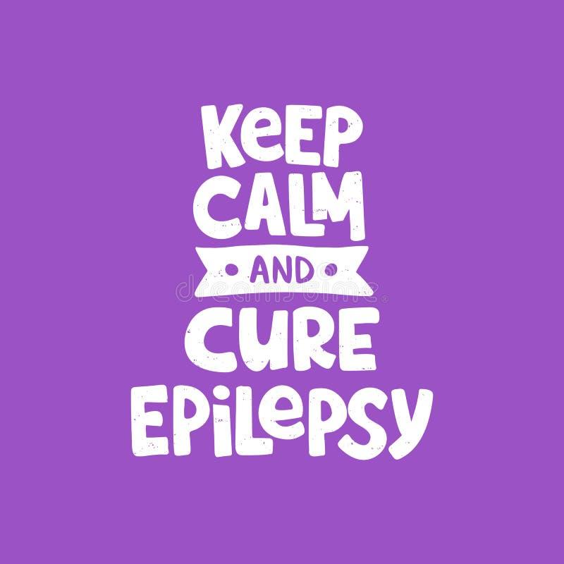 Letras exhaustas de la mano de la epilepsia ilustración del vector