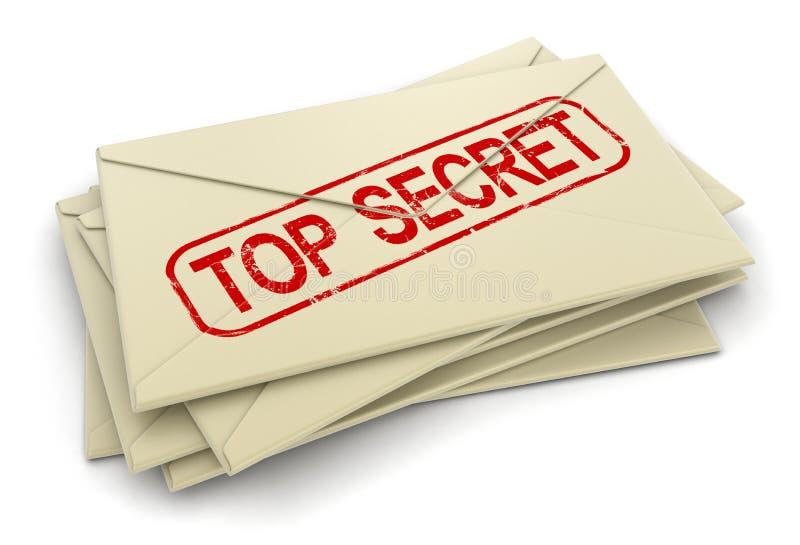 Letras extremamente secretos (trajeto de grampeamento incluído) ilustração royalty free