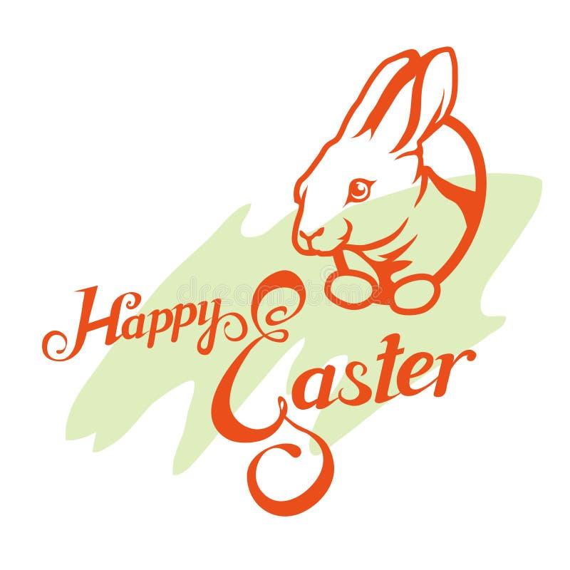 Letras felices de Pascua libre illustration