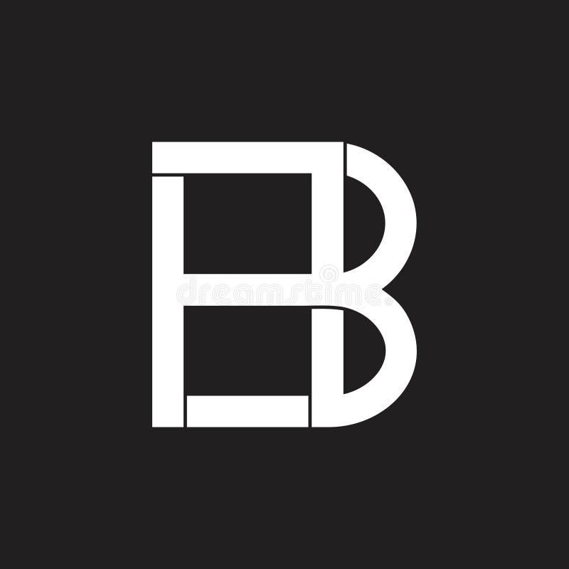 Letras hb Logotipo abstrato geométrico simples ilustração do vetor