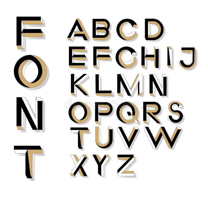 Letras imposibles de la geometría Fuente imposible de la forma libre illustration