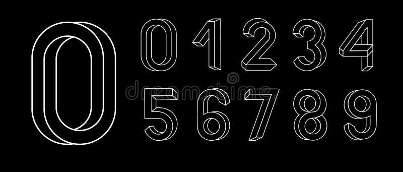 Letras imposibles de la geometría Fuente imposible de la forma Caracteres polivinílicos bajos 3d Fuente geométrica ABC isométrico libre illustration