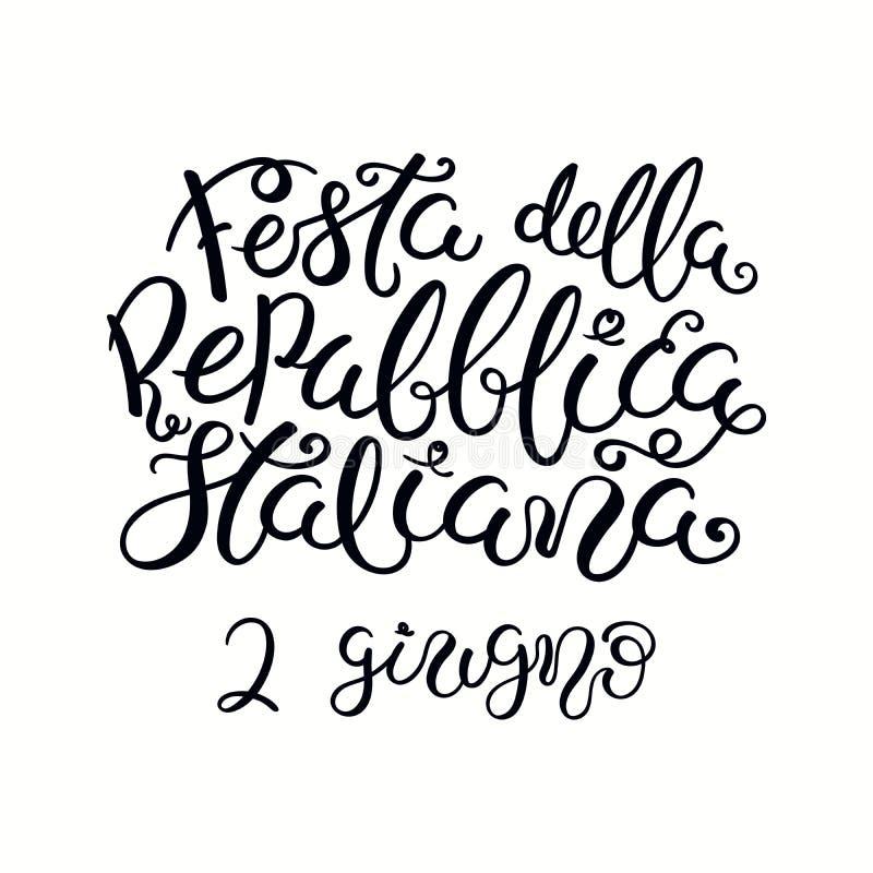 Letras italianas del día de la república libre illustration