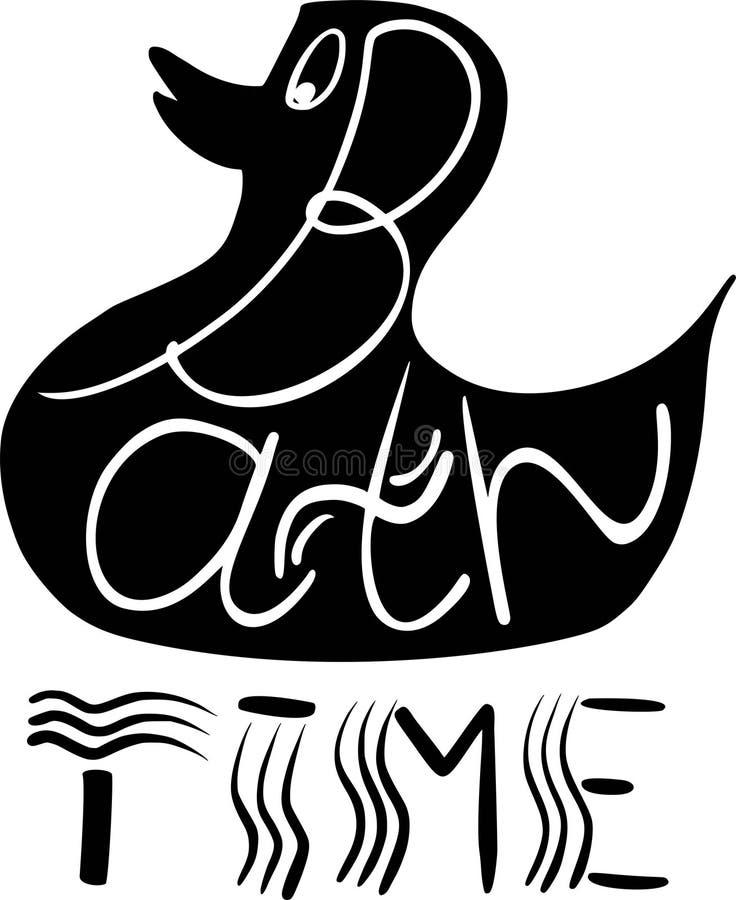 Letras lindas preciosas del tiempo del baño del gráfico artístico hermoso del extracto con vector de los garabatos del espray del stock de ilustración