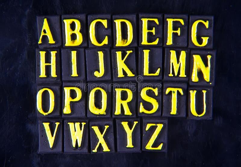 Letras magnéticas imagem de stock royalty free