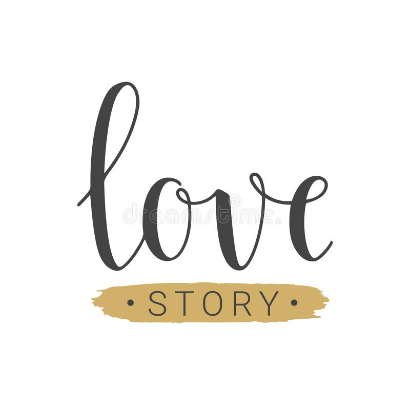 Letras manuscritas de Love Story libre illustration
