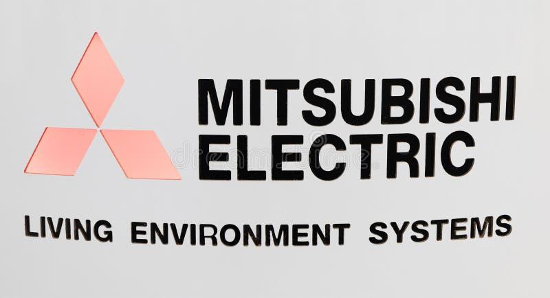 Letras Mitsubishi Electric imagem de stock royalty free