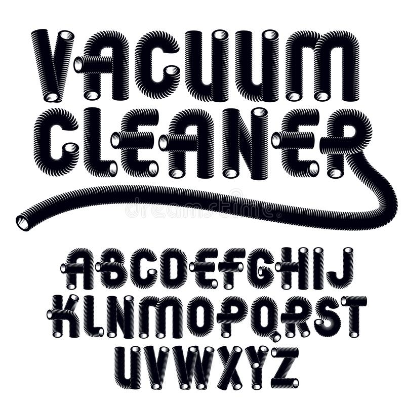 Letras modernas capitales del alfabeto del vector fijadas La fuente redondeada de moda, escritura de a z se puede utilizar en la  stock de ilustración