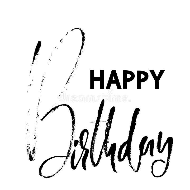 Letras Modernas Del Cepillo Del Feliz Cumpleaños Para La Tarjeta De ...