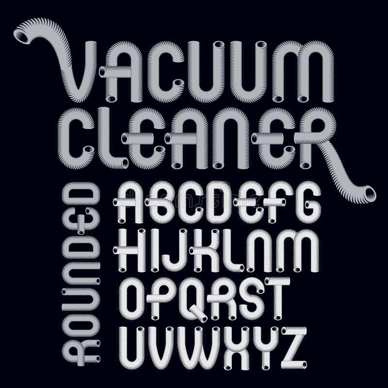 Letras modernas principais do alfabeto do vetor ajustadas A fonte na moda, roteiro da a z pode ser usada na criação do cartaz da  ilustração do vetor