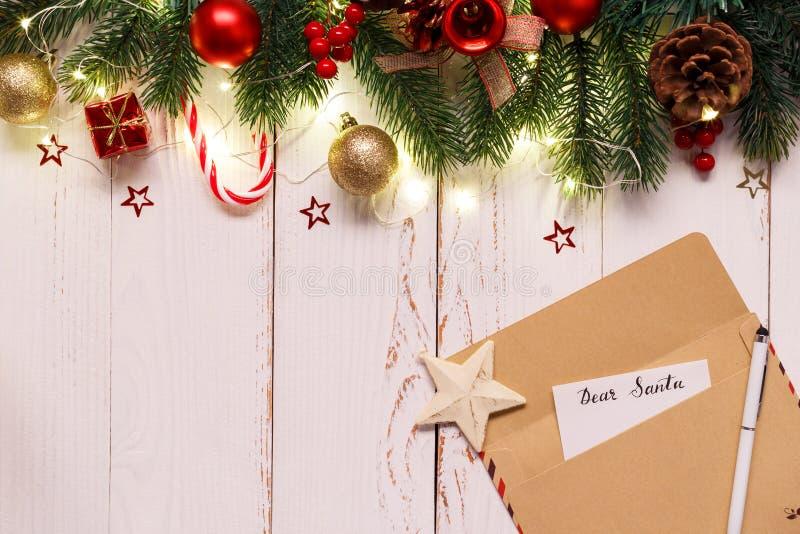 Letras a Papai Noel imagem de stock