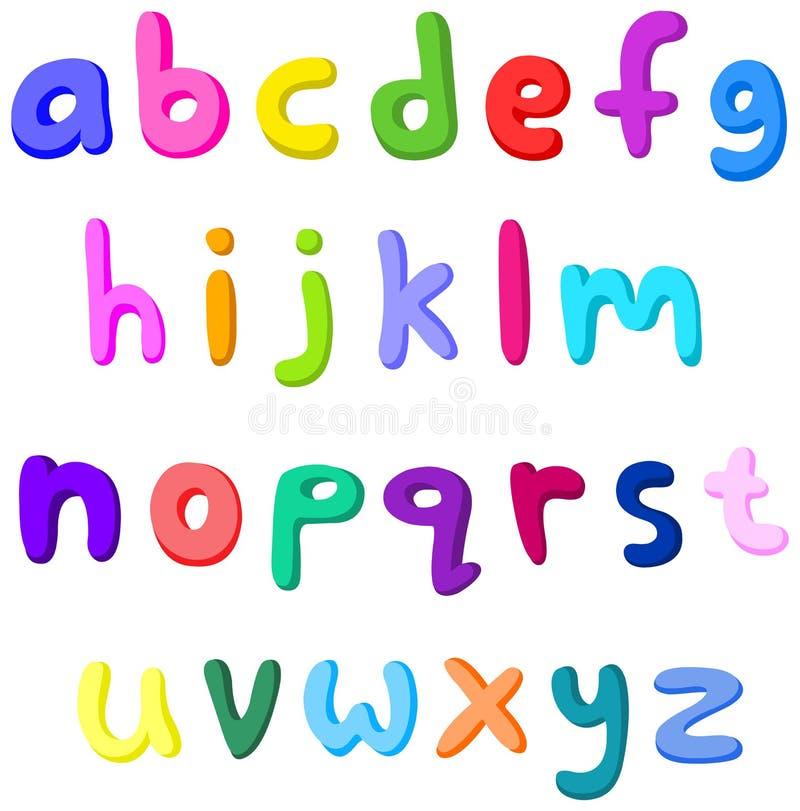 Letras pequenas coloridas ilustração do vetor