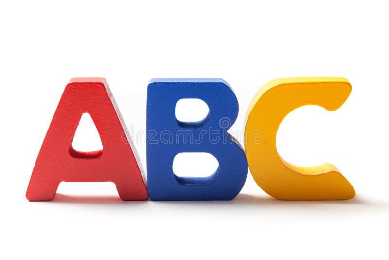 Letras principais A B e C em uma linha foto de stock
