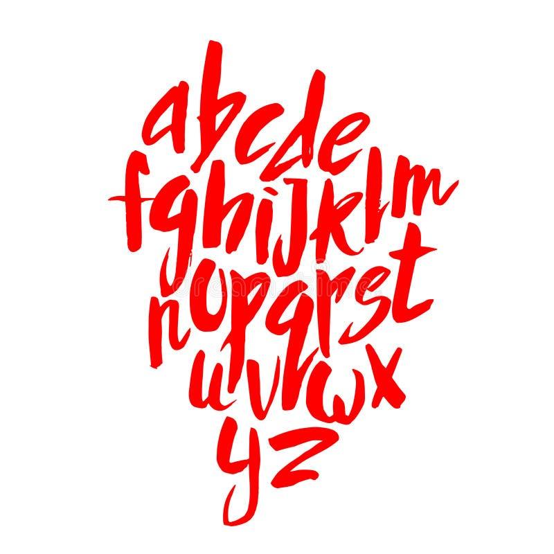 Letras rojas del alfabeto imagenes de archivo