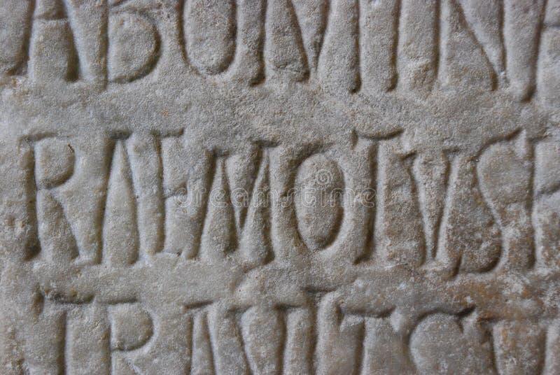 Letras romanas antigas imagem de stock