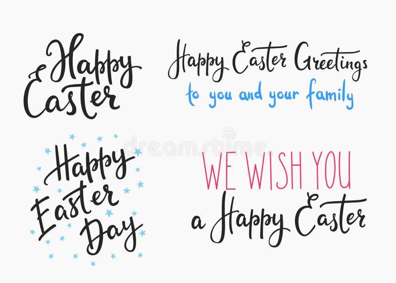 Letras simples del día feliz de pascua stock de ilustración
