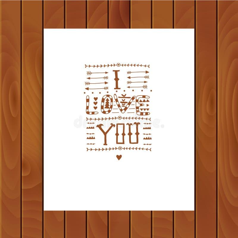 Letras tribales del vector stock de ilustración
